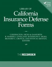 Library of California Insurance Defense Forms cover