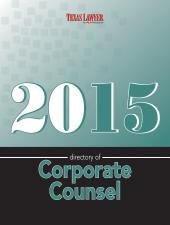 Directory of Corporate Counsel-Texas cover
