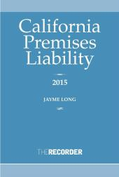 California Premises Liability Law cover