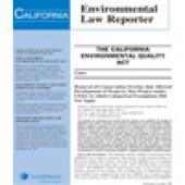 California Environmental Law Reporter cover