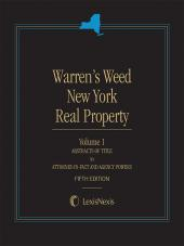 Warren's Weed New York Real Property, Fifth Edition cover
