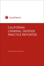 California Criminal Defense Practice Reporter cover