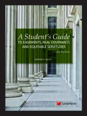 A Student's Guide to Easements, Real Covenants and Equitable Servitudes, Third Edition (2012) cover