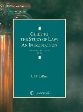 Guide to the Study of Law: An Introduction cover