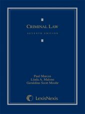 Criminal Law, Seventh Edition (2012) cover