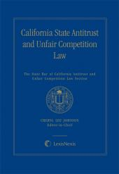 California State Antitrust and Unfair Competition Law cover