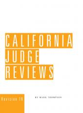California Judge Reviews (California Courts & Judges) cover