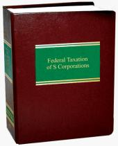 Federal Taxation of S Corporations cover