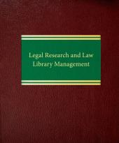 Legal Research and Law Library Management cover
