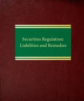 Securities Regulation: Liabilities and Remedies cover