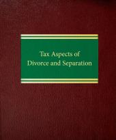 Tax Aspects of Divorce and Separation cover