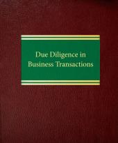 Due Diligence in Business Transactions cover