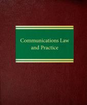 Communications Law and Practice cover