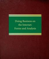Doing Business On The Internet: Forms and Analysis cover