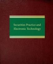Securities Practice and Electronic Technology cover