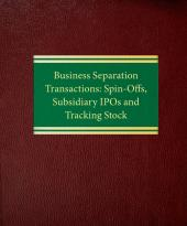 Business Separation Transactions: Spin-Offs, Subsidiary IPOs and Tracking Stock cover