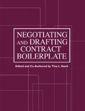 Negotiating and Drafting Contract Boilerplate cover