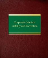 Corporate Criminal Liability and Prevention cover