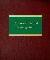 Corporate Internal Investigations cover