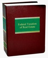 Federal Taxation of Real Estate cover