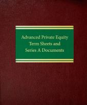 Advanced Private Equity Term Sheets and Series A Documents cover