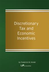 Discretionary Tax and Economic Incentives cover