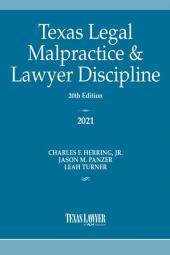 Texas Legal Malpractice & Lawyer Discipline cover