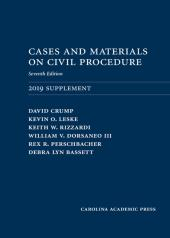 Cases and Materials on Civil Procedure: 2019 Supplement cover