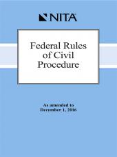 Federal Rules of Civil Procedure cover