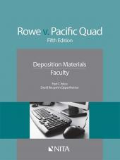 Rowe v. Pacific Quad, Inc. Faculty Version cover