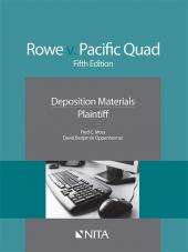 Rowe v. Pacific Quad, Inc. Plaintiffs Version cover