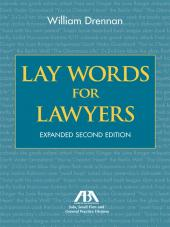 Lay Words for Lawyers cover