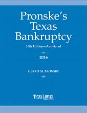 Pronske's Texas Bankruptcy, Annotated cover