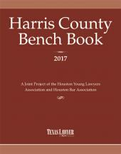 Harris County Bench Book 2016 cover