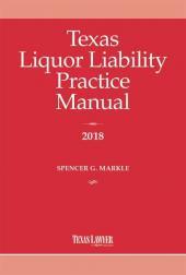 Texas Liquor Liability Practice Manual cover