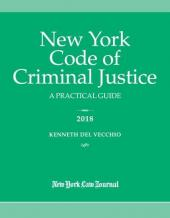 New York Code of Criminal Justice cover