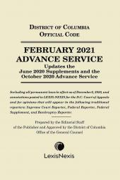 District of Columbia Lexis Advance Service cover
