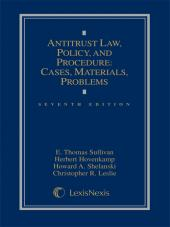 Antitrust Law, Policy and Procedure: Cases, Materials, Problems cover
