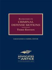 Klinkosum on Criminal Defense Motions cover