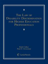 The Law of Disability Discrimination for Higher Education Professionals cover