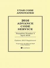 Utah Advance Code Service cover