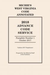 Michie's West Virginia Code Annotated: Advance Code Service cover