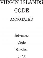 Virgin Islands Code Annotated Advance Code Service cover