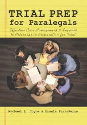 Trial Prep for Paralegals cover