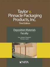 Jamie Taylor v. Pinnacle Packaging Products, Inc., Faculty Version cover