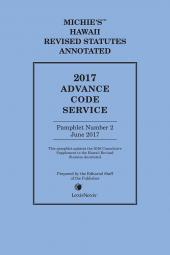 Hawaii Advance Code Service cover