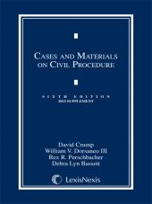 Cases and Materials on Civil Procedure, Sixth Edition, 2015 Supplement cover