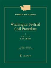LexisNexis Practice Guide: Washington Pretrial Civil Procedure cover