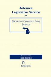 Michigan Compiled Laws Service Advance Legislative Service cover