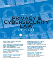 Pratt's Privacy & Cybersecurity Law Report cover